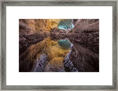 Cueva De Los Verdes - Lanzarote Framed Print by Joana Kruse