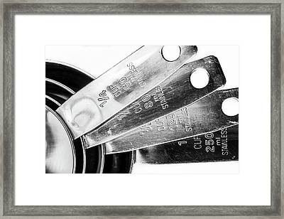 Framed Print featuring the photograph 1 Cup Measure And Siblings. by Gary Gillette