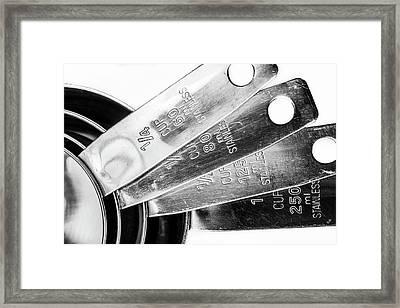 1 Cup Measure And Siblings. Framed Print