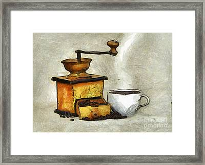 Cup Of The Hot Black Coffee Framed Print by Michal Boubin
