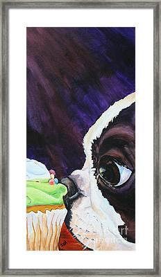 Cupcake Kid Framed Print