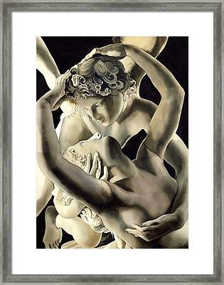 Cupid And Psyche Framed Print by Alfred Ng