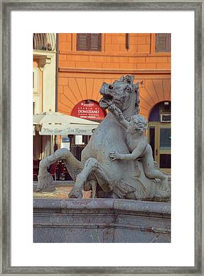 Cupid And The Sea-horse Framed Print by JAMART Photography