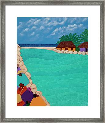 Curacao Lagoon Framed Print