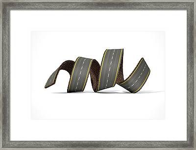 Curled Road Framed Print by Allan Swart