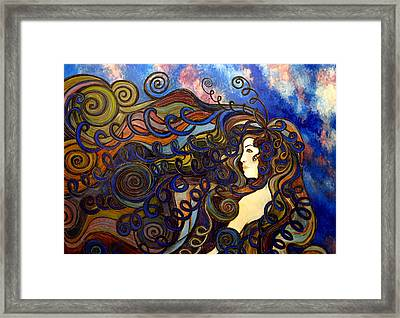 Curly Girl Framed Print by Monica Furlow