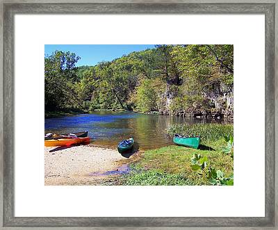 Current River 5 Framed Print by Marty Koch