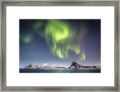 Curtains Of Light Framed Print