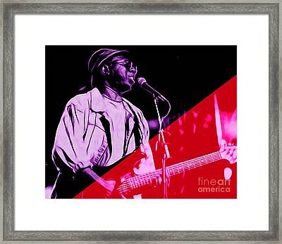 Curtis Mayfield Collection Framed Print by Marvin Blaine