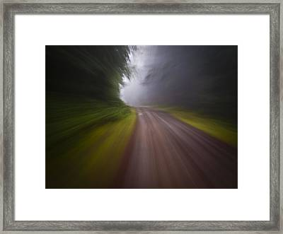 Curve In The Road Blur Framed Print by Ed Book