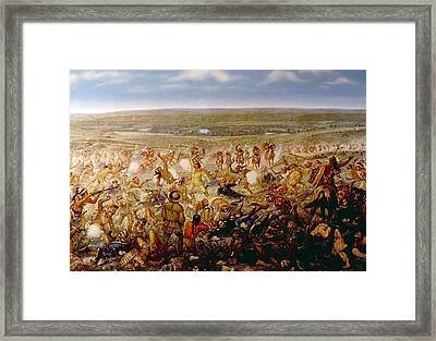 Custers Last Stand, General George Framed Print by Everett
