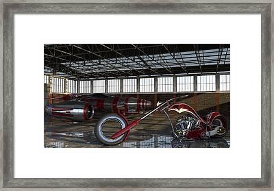 Framed Print featuring the photograph Custom Chopper  by Louis Ferreira