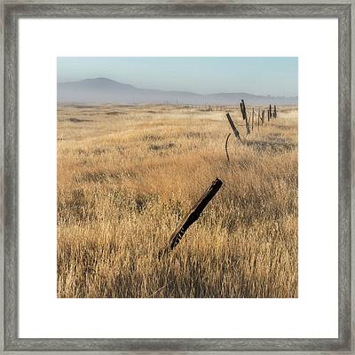 Cuyamaca Fenceline Framed Print by Joseph Smith