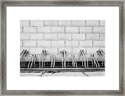 Cycle Racks Framed Print