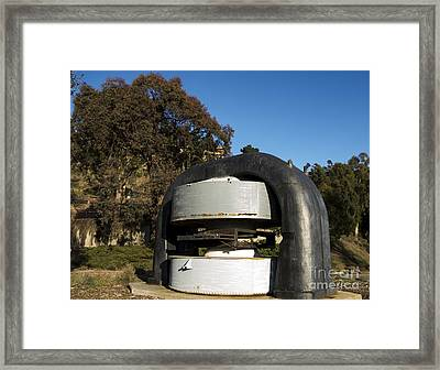 Cyclotron Magnet At Lawrence Hall Of Science Framed Print