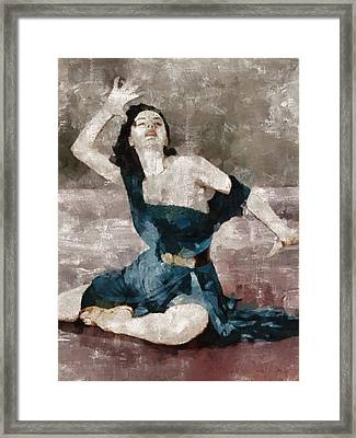 Cyd Charisse Hollywood Actress And Dancer Framed Print by Mary Bassett
