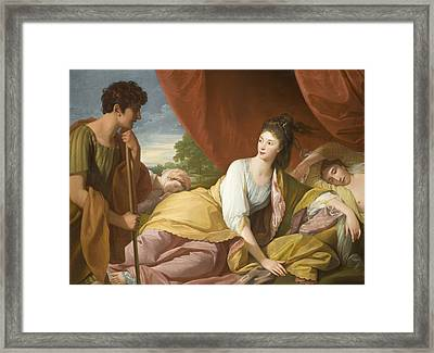 Cymon And Iphigenia Framed Print by Benjamin West