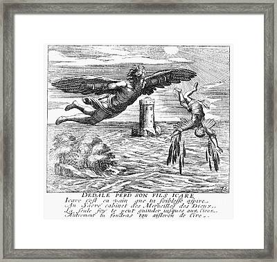 Daedalus And Icarus Framed Print by Granger