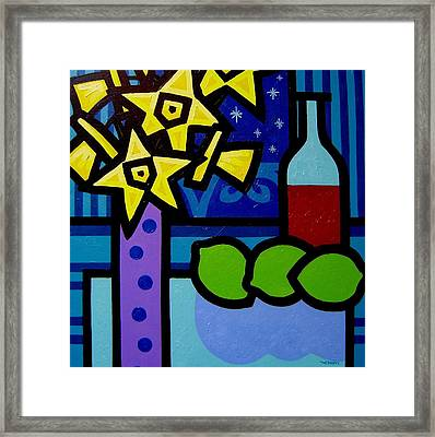 Daffs Wine And Limes Framed Print
