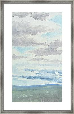 Dagrar Over Salenfjallen- Shifting Daylight Over Distant Horizon 9 Of 10_0029 Framed Print