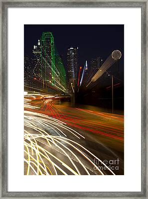 Dallas Commute - Abstract Framed Print by Anthony Totah