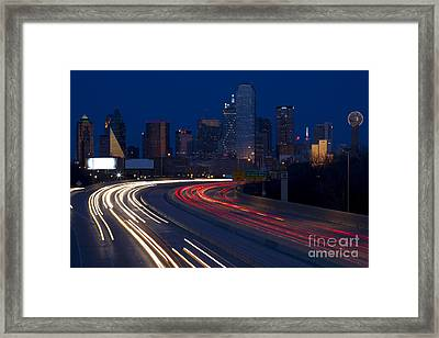 Dallas Commute Framed Print by Anthony Totah