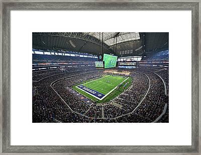Dallas Cowboys Att Stadium Framed Print