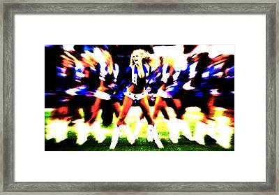 Dallas Cowboys Cheerleaders Framed Print by Brian Reaves