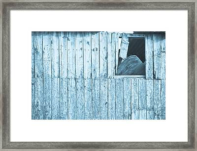 Damaged Hut Framed Print by Tom Gowanlock