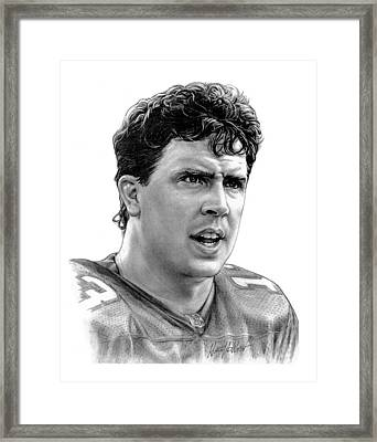 Dan Marino Framed Print by Harry West