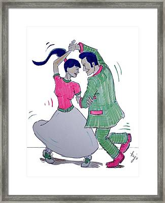Dance To The Beat Framed Print