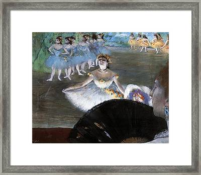 Dancer With A Bouquet Of Flowers Framed Print by Edgar Degas