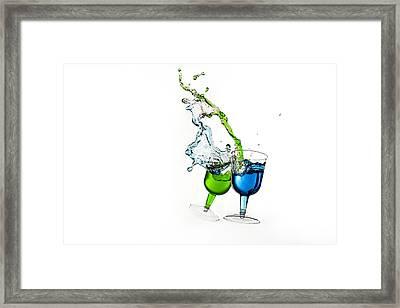 Dancing Drinks Framed Print