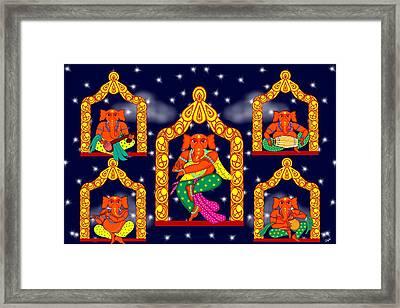 Nata Ganapati Framed Print