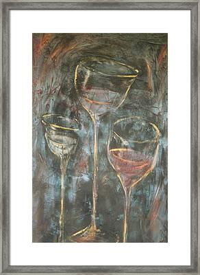 Dancing Glasses Framed Print