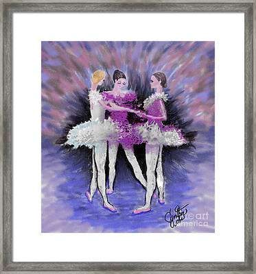 Dancing In A Circle Framed Print by Cynthia Sorensen