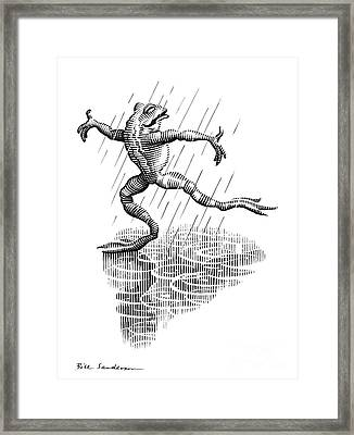 Dancing In The Rain, Conceptual Artwork Framed Print by Bill Sanderson
