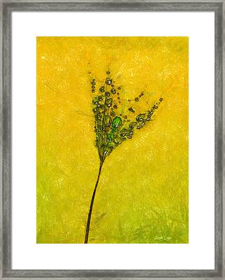 Dandelion Flower - Da Framed Print by Leonardo Digenio
