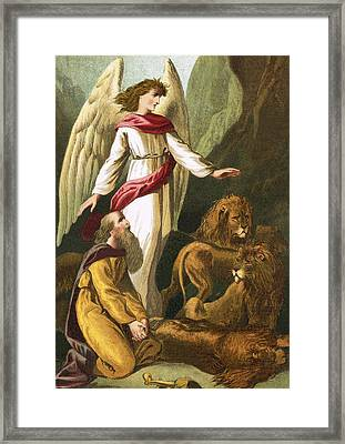 Daniel With The Lions Framed Print