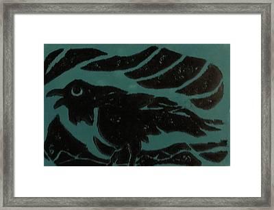 Darcy's Crow Framed Print