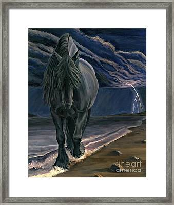 Framed Print featuring the painting Dark Knight Of The Soul by Sheri Gordon