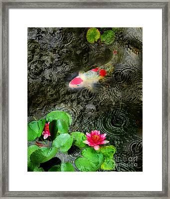 Dark Rain Framed Print