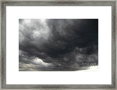 Dark Rainy Clouds Framed Print by Michal Boubin