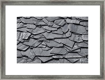 Dark Schist Blades Framed Print