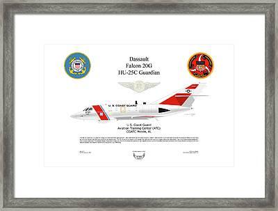 Dassault Falcon 20g Hu-25c Framed Print