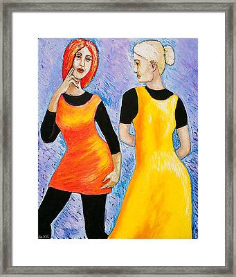 Daughter And Mother Framed Print