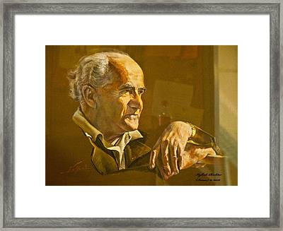 David Ben Gurion - Israel First Pm Framed Print by Itzhak Richter