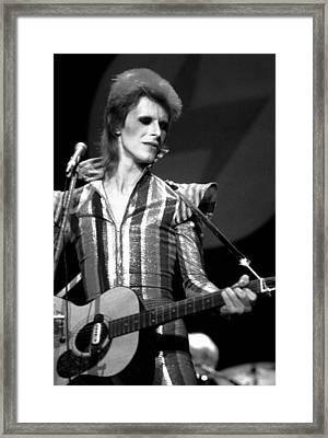 David Bowie 1973 Framed Print by Chris Walter