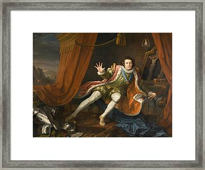 David Garrick As Richard IIi Framed Print