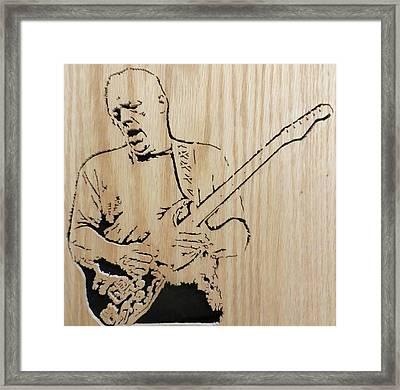 David Gilmour Framed Print by Kris Martinson
